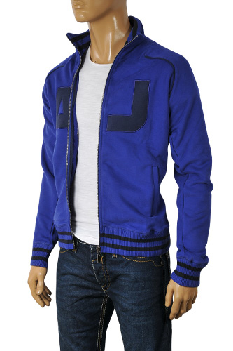 Mens Designer Clothes | ARMANI JEANS Men's Zip Up Cotton Jacket #113