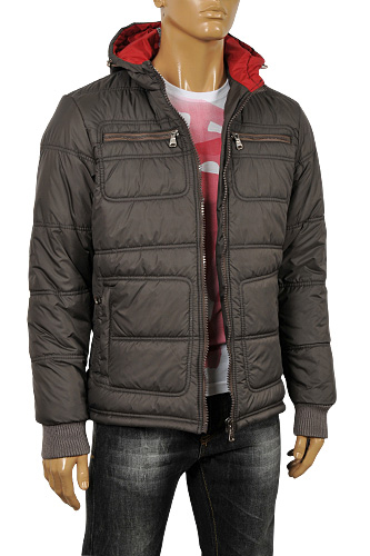 Mens Designer Clothes | ARMANI JEANS Men's Hooded Warm Jacket #117