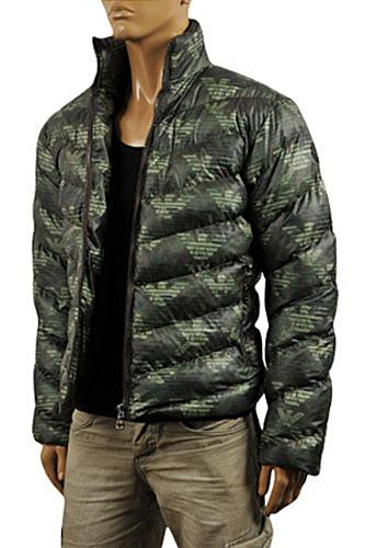 Mens Designer Clothes | ARMANI JEANS Men's Winter Warm Jacket #123
