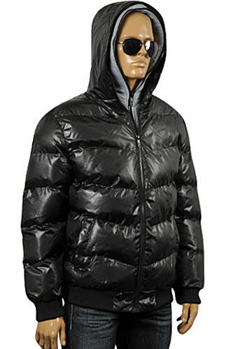 Mens Designer Clothes | ARMANI JEANS Men's Winter Warm Hooded Jacket #125