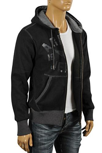Mens Designer Clothes | ARMANI JEANS Men's Zip Up Hoodie/Jacket #128