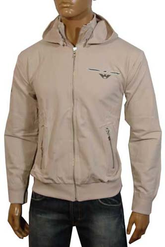 Mens Designer Clothes | EMPORIO ARMANI Jacket With Removable Hood #43