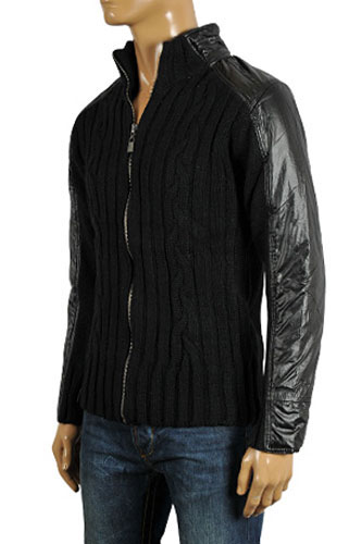 Mens Designer Clothes | EMPORIO ARMANI Men's Knit Warm Jacket #91