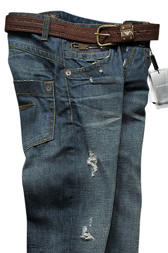 Mens Designer Clothes | EMPORIO ARMANI Men's Washed Jeans With Belt #106