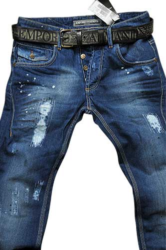 Mens Designer Clothes | EMPORIO ARMANI Men's Jeans With Belt #109