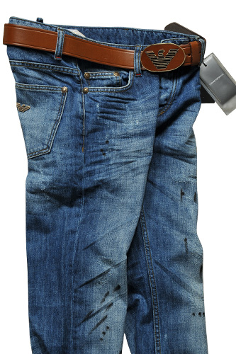 Mens Designer Clothes | EMPORIO ARMANI Men's Jeans With Belt #113
