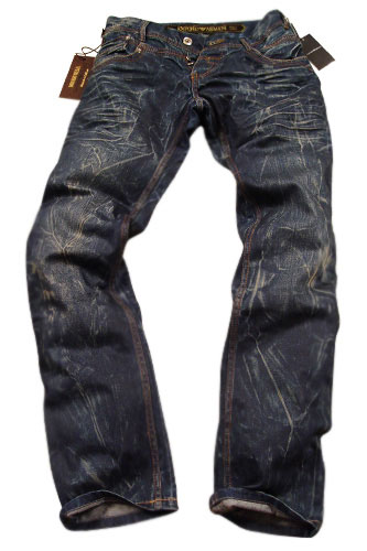 Mens Designer Clothes | EMPORIO ARMANI Mens Crinkled Jeans #90