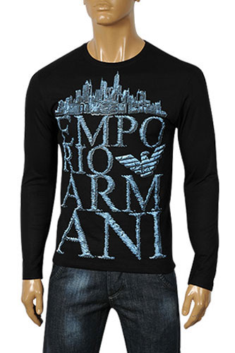 Mens Designer Clothes | EMPORIO ARMANI Men's Long Sleeve Tee #172