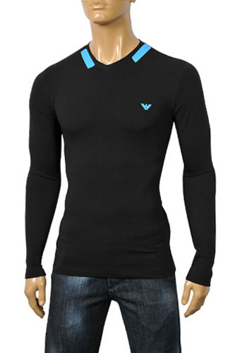 Mens Designer Clothes | ARMANI JEANS Men's Long Sleeve Tee #174
