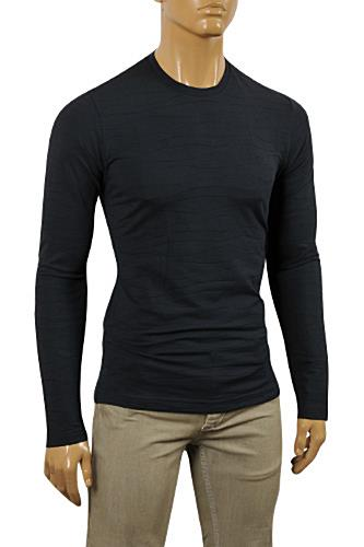 Mens Designer Clothes | ARMANI JEANS Men's Long Sleeve Fitted Shirt #244