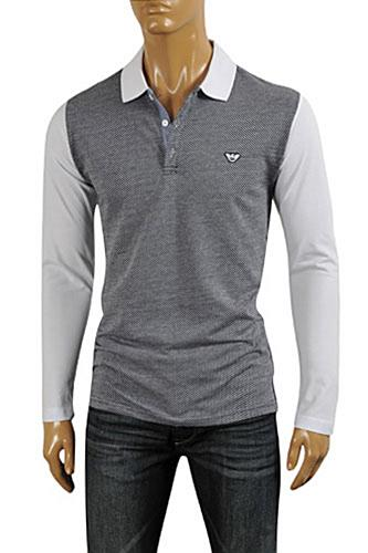 Mens Designer Clothes | ARMANI JEANS Men's Cotton Shirt #256