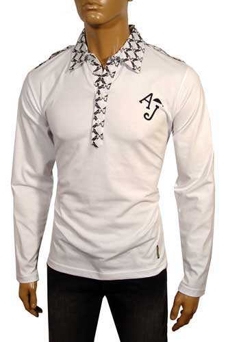 Mens Designer Clothes | EMPORIO ARMANI Long Sleeve Cotton Shirt #91