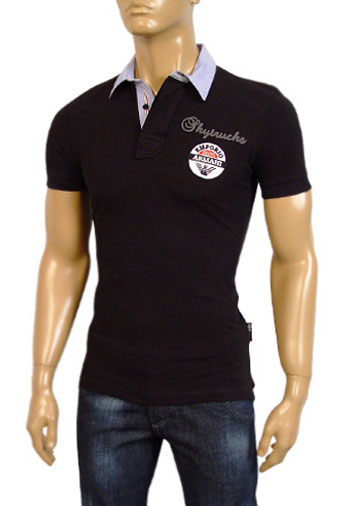 Mens Designer Clothes | EMPORIO ARMANI Cotton Mens Polo Shirt #147