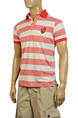 Mens Designer Clothes | EMPORIO ARMANI Mens Cotton Polo Shirt #156
