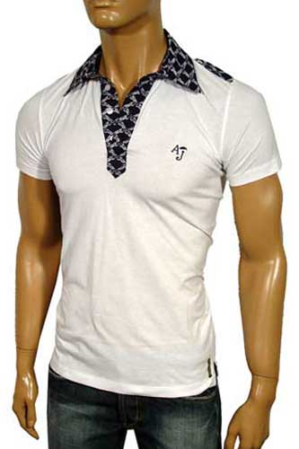 Mens Designer Clothes | ARMANI JEANS Men's Polo Shirt #79