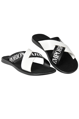 Designer Clothes Shoes | EMPORIO ARMANI Men's Leather Sandals #256
