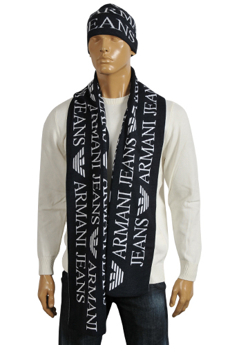 mens designer clothes armani s hat scarf set 107