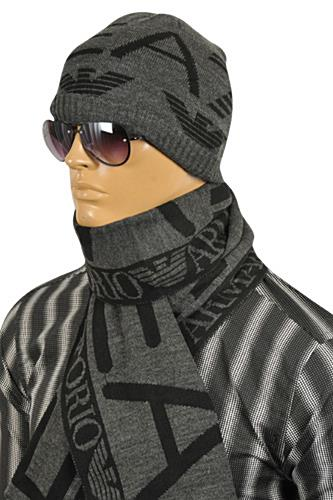 Mens Designer Clothes | EMPORIO ARMANI Men's Hat/Scarf Set #134