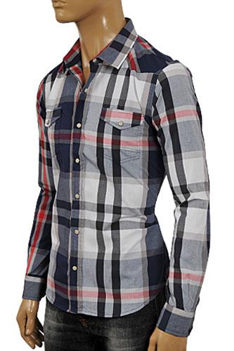 Designer Clothes | ARMANI JEANS Men's Button Up Casual Shirt #229