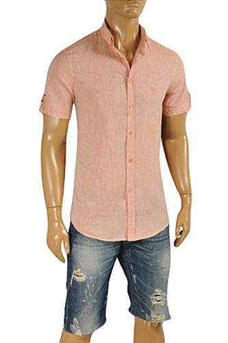 Mens Designer Clothes | EMPORIO ARMANI Men's Short Sleeve Shirt #253