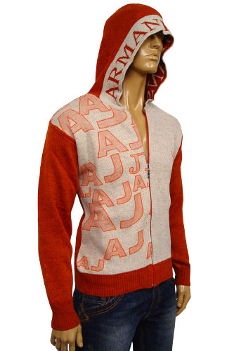 Mens Designer Clothes | EMPORIO ARMANI Mens Hooded Warm Sweater #111