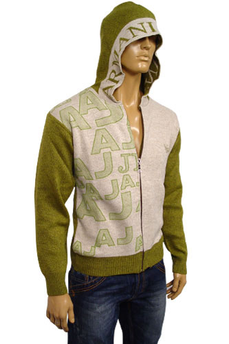Mens Designer Clothes | EMPORIO ARMANI Mens Hooded Warm Sweater #113