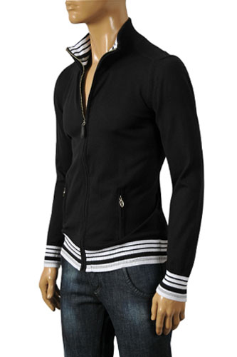 Mens Designer Clothes | ARMANI JEANS Men's Zip Up Sweater #148