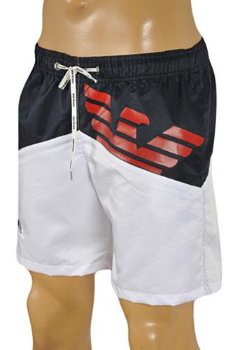 Mens Designer Clothes | EMPORIO ARMANI Logo Printed Swim Shorts ...