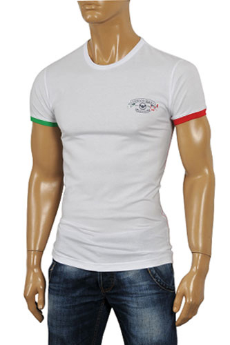Mens Designer Clothes | ARMANI JEANS Men's Fitted Short Sleeve Tee #77