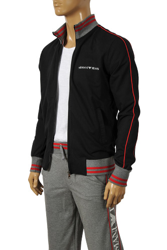 Mens Designer Clothes | ARMANI JEANS Men's Zip Up Tracksuit #114