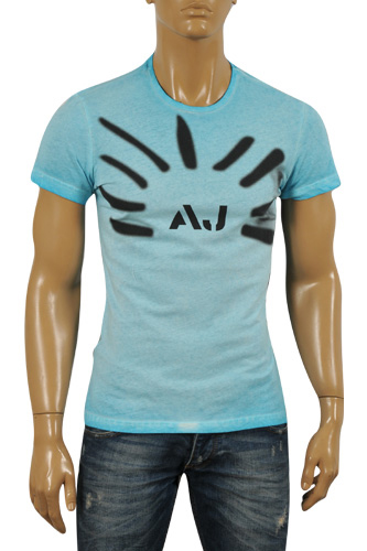 Mens Designer Clothes | ARMANI JEANS Men's Cotton T-Shirt #101