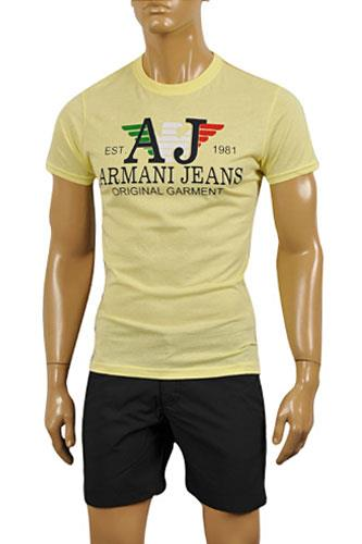 Mens Designer Clothes | ARMANI JEANS Men's Cotton T-Shirt #106