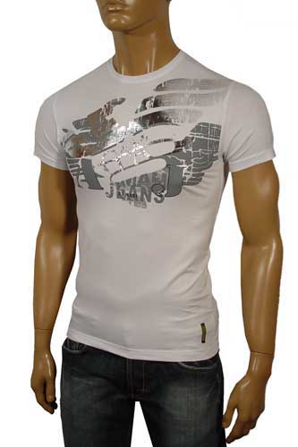 Mens Designer Clothes | ARMANI Round Neck Short Sleeve Tee #14
