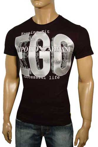 Mens Designer Clothes | ARMANI Round Neck Short Sleeve Tee #17
