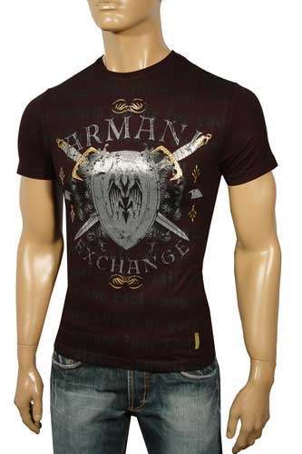 Mens Designer Clothes | ARMANI Round Neck Short Sleeve Tee #18