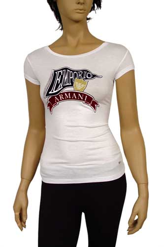 Womens Designer Clothes | EMPORIO ARMANI Ladies Short Sleeve Top #25