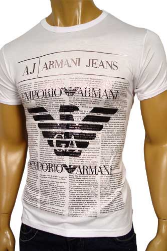 Mens Designer Clothes | EMPORIO ARMANI Mens V-Neck Short Sleeve Tee #29