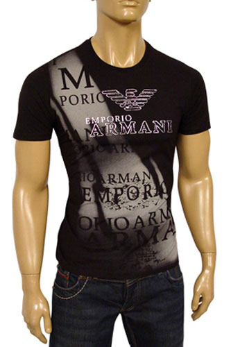 Mens Designer Clothes | EMPORIO ARMANI Round Neck Short Sleeve Tee #35
