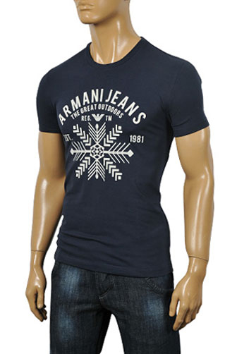 Mens Designer Clothes | ARMANI JEANS Men's Fitted Short Sleeve Tee #60