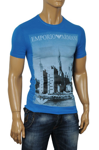 Mens Designer Clothes | EMPORIO ARMANI Men's Fitted Short Sleeve Tee #62
