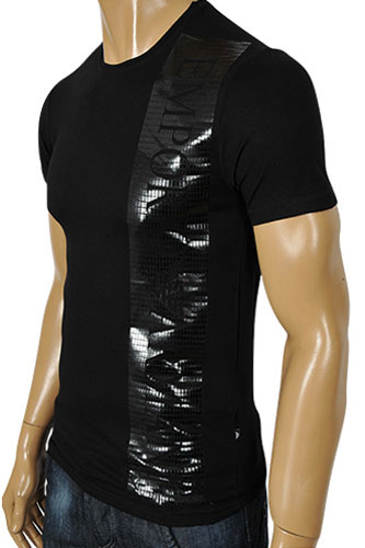 Mens Designer Clothes | EMPORIO ARMANI Men's Fitted Short Sleeve Tee #63