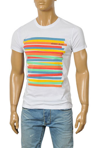 Mens Designer Clothes | ARMANI JEANS Men's Short Sleeve Tee #69