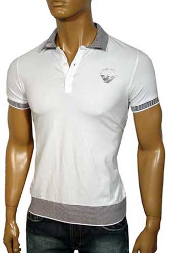 Mens Designer Clothes | ARMANI JEANS Men's Polo Shirt #76
