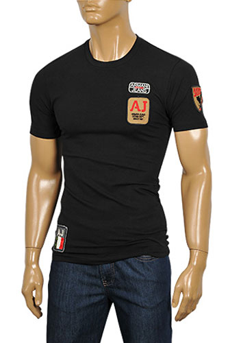 Mens Designer Clothes | ARMANI JEANS Men's Short Sleeve Tee #81
