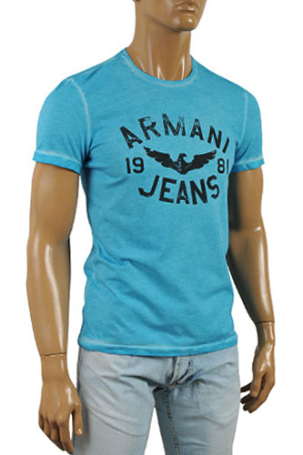 Mens Designer Clothes | ARMANI JEANS Men's Crewneck Short Sleeve Tee #82