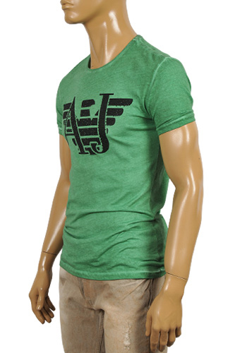 Mens Designer Clothes | ARMANI JEANS Men's Crewneck Short Sleeve Tee #83