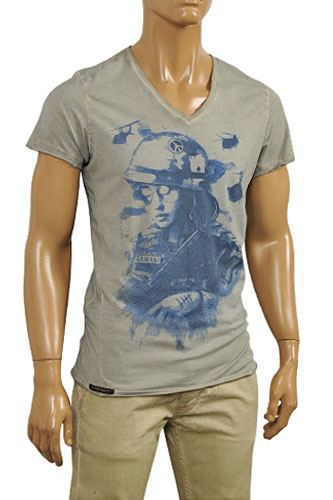 Mens Designer Clothes | EMPORIO ARMANI Men's V-Neck Short Sleeve Tee #86