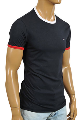 Mens Designer Clothes | ARMANI JEANS Men's Short Sleeve Tee In Navy Blue #91