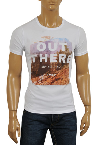 Mens Designer Clothes | ARMANI JEANS Men's T-Shirt #99