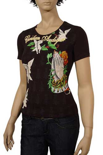 Womens Designer Clothes | CHRISTIAN AUDIGIER Multi Print Lady's Top #73